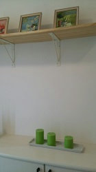 フレスコの分譲住宅 玄関のおしゃれな棚